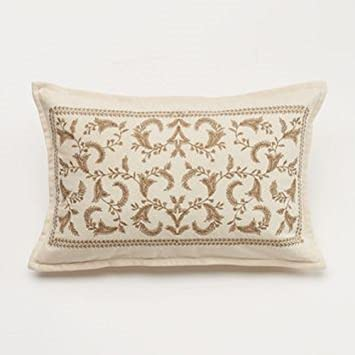 Amazon Chaps Home Beekman Place 40x40 Metallic Embroidery Fascinating Beekman Home Decorative Pillow