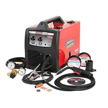 lincoln electric pro-mig 180 welder 230-volt mig flux-cored wire feed model  k2481-1 - mig welding equipment - amazon com