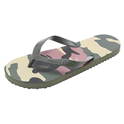 ANJUNIE Couple Men Women Camouflage Beach Flip Flops Anti-Slip Slipper Shoes Home Slip on: Clothing
