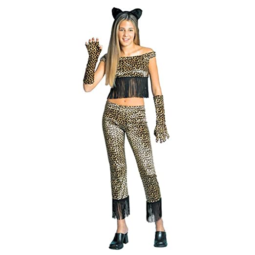 Amazoncom Teen Cheetah Cat Girl Costume Size Youth 14 16 Clothing