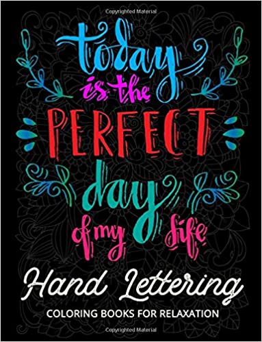 Amazon Com Hand Lettering Coloring Book For Relaxation Motivation