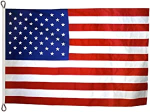 Annin Flagmakers Model 2770 American Flag Tough-Tex The Strongest, Longest Lasting, 12x18 ft, 100% Made in USA with Sewn Stripes, Embroidered Stars and Roped Heading