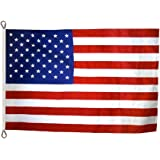 American Flag 8x12 ft. Tough-Tex the Strongest, Longest Lasting Flag by Annin Flagmakers, 100% Made in USA with Sewn Stripes, Embroidered Stars and Roped Heading. Model 2750