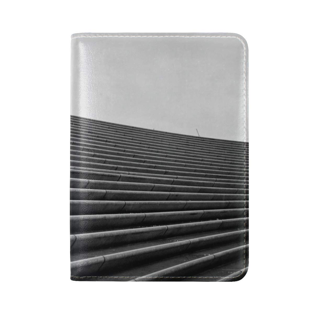Staircase Bw Umbrella Leather Passport Holder Cover Case Travel One Pocket