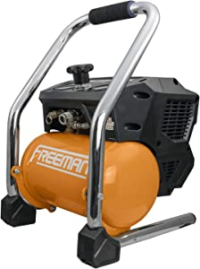 Freeman PE20V15G 1.5 Gallon 20 Volt MAX Cordless 1/2 HP Portable Brushless Electric Oil-Free Air Compressor Kit with Rechargeable 4 Ah Lithium-Ion Battery and Quick Charger