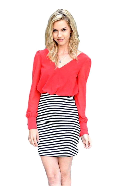 Chiffon Top, Pencil Skirt Dress, Scarlett