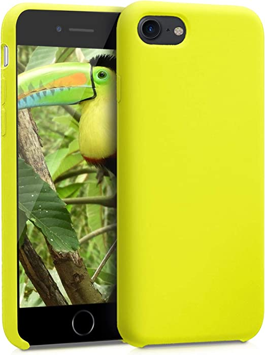 kwmobile TPU Silicone Case Compatible with Apple iPhone 7/8 / SE (2020) - Case Slim Protective Phone Cover with Soft Finish - Lemon Yellow