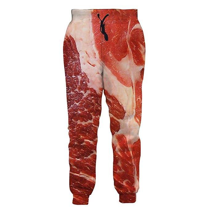La Carne cruda de Moda para Hombres Mujeres Baggy Jogger Pants 3D Impreso  Pantalones de chándal Hip Hop Pantalones  Amazon.es  Ropa y accesorios 4fd1ebd0944