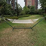 LazyDaze Hammocks® Cotton Rope Double Hammock with Wood Spreader
