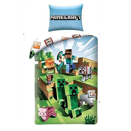 Halantex Juego de Cama Minecraft Cactus Que corren Funda ...