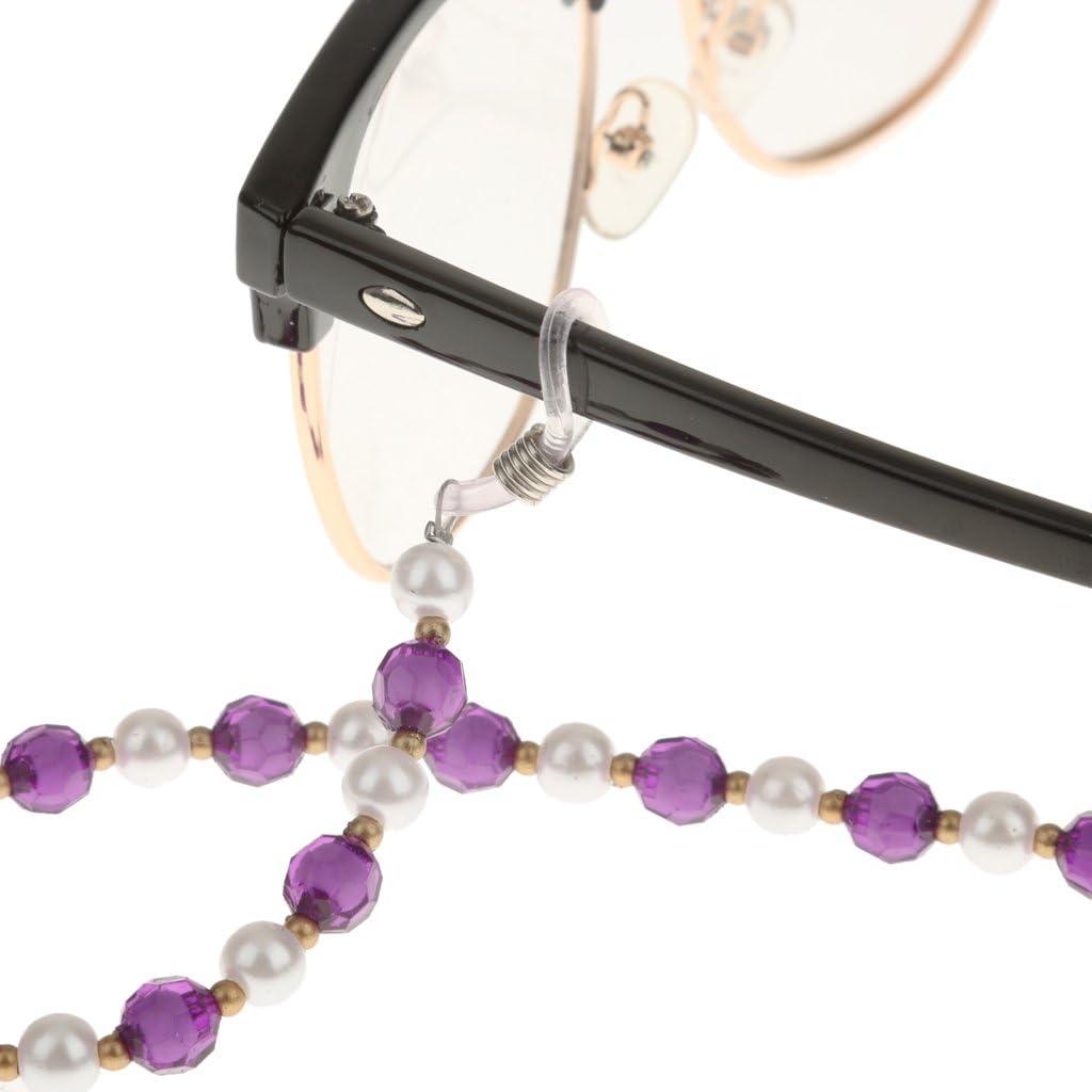 NON 2 Unidades Cadenas de acr/ílico para Gafas de Sol Lectura Anti perdida Colgar en Cuello