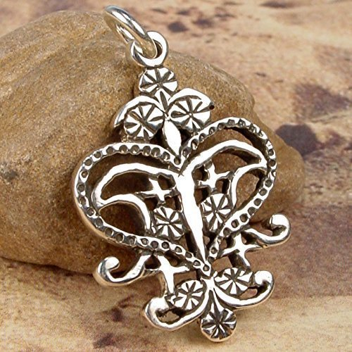 ERZULIE FREDA VEVE - Solid Cast Voodoo Lwa Vodou Charm Pendant in Sterling Silver by BlackWaterSiren