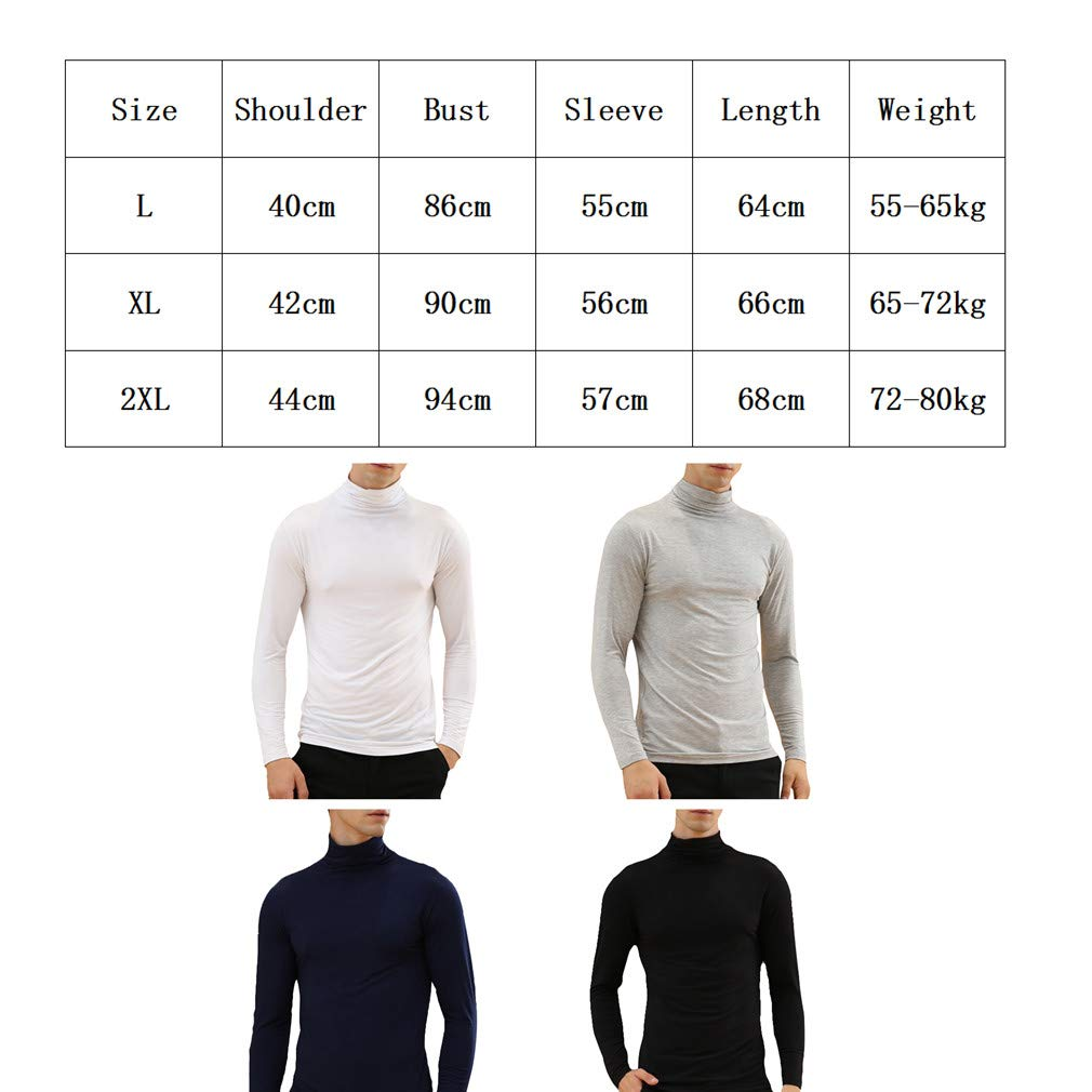 hibote Men/'s Thermal Top Round Neck Long Sleeves T-Shirt Vest Winter Warm Underwear Baselayer Winter Outdoor Work Travel Camping L-2XL