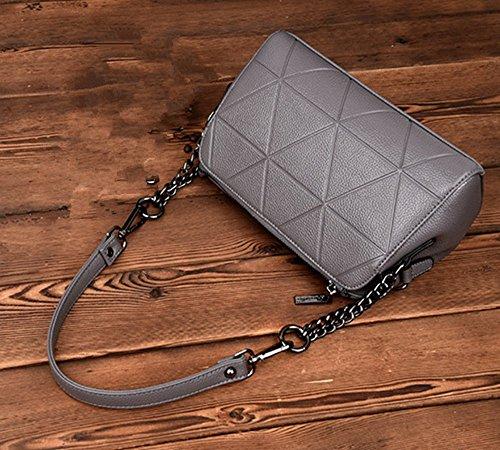 bag Totes Handbags Messenger Women's Dark Shoulder Grey leather PU bag qCSTxw0Ix