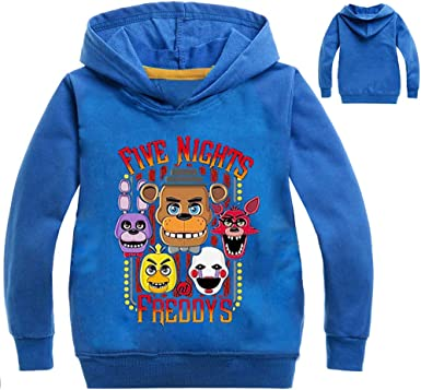 CTOOO Sweat Shirts à Capuche Five Nights at Freddy Enfant Hauteur 100 160cm