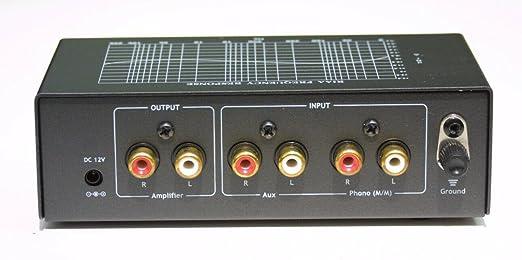 Preamplificador de Tocadiscos con Entrada Auxiliar y Control de ...