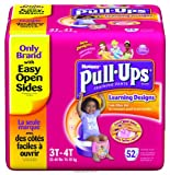 Huggies Pull-Ups Training Pants Learning Designs Girls 3T-4T 52 Ct (Pack of 2)