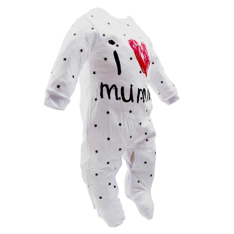 Juego de dos peleles para beb/é unixez /«Quiero a papi/» 2pack Talla:3 Month marca Aomomo para reci/én nacidos con mensajes impresos /«Quiero a mami/»