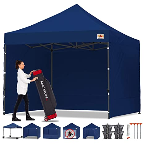 Abccanopy Canopy Tent Popup Canopy 10x10 Pop Up Canopies Commercial Tents Market Stall With 6 Removable