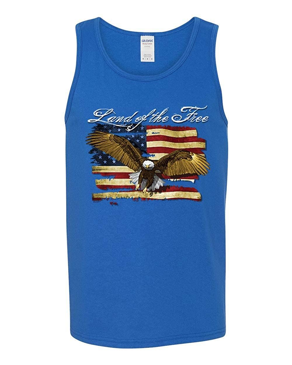 USA Flag Eagle Land of The Free Mens Americana//American Pride Graphic Tank Top