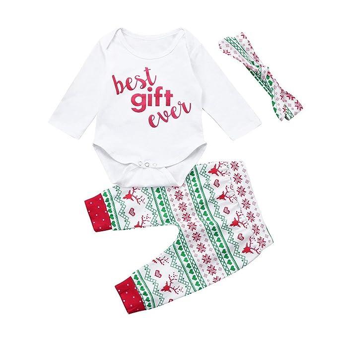 """Navidad """"Best gift ever""""Lindo Animal Impresión Pijamas Set Para Unisexo Niño,"""