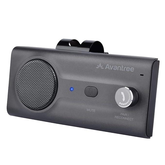 362827f2c86 Avantree Hands Free Bluetooth for Cell Phone Car Kit, Loud Speakerphone  Device, Siri Google