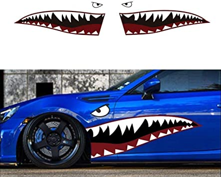 SELECT SIZE Shark Teeth Car Vinyl Sticker