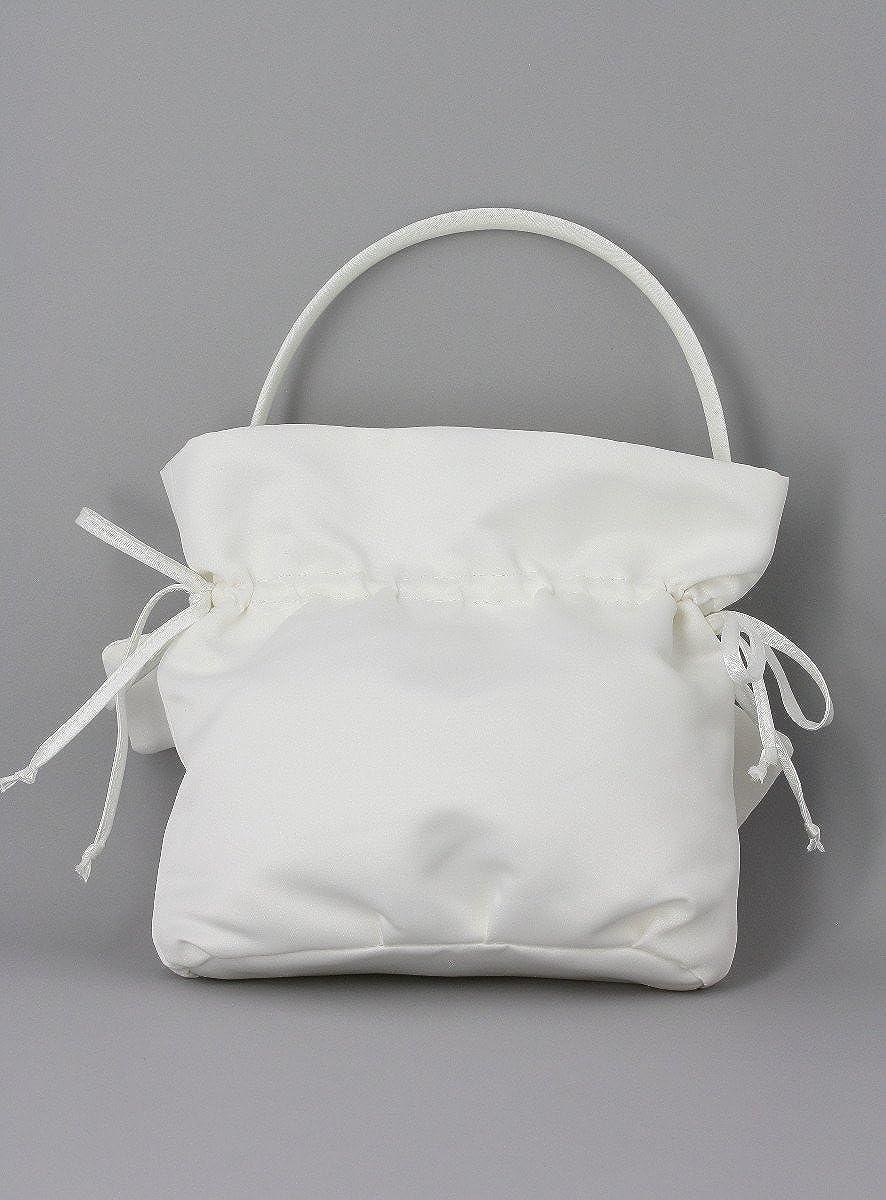 Boutique-Magique sac mariage satin anse blanc ou ivoire c/ér/émonie