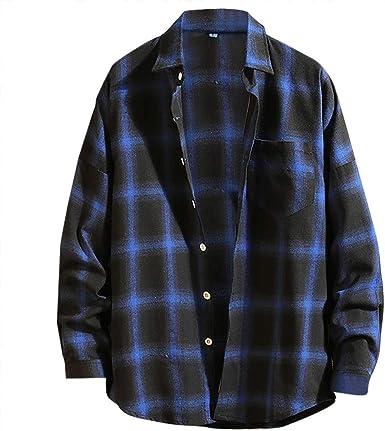 Sylar Camisas De Hombre Manga Larga Camisa A Cuadros Rejilla Camisa De Vestir para Hombre Ajustado Clásico Básica Botón Formal Negocio Camisa Hombre Slim Fit Blusa Top: Amazon.es: Ropa y accesorios