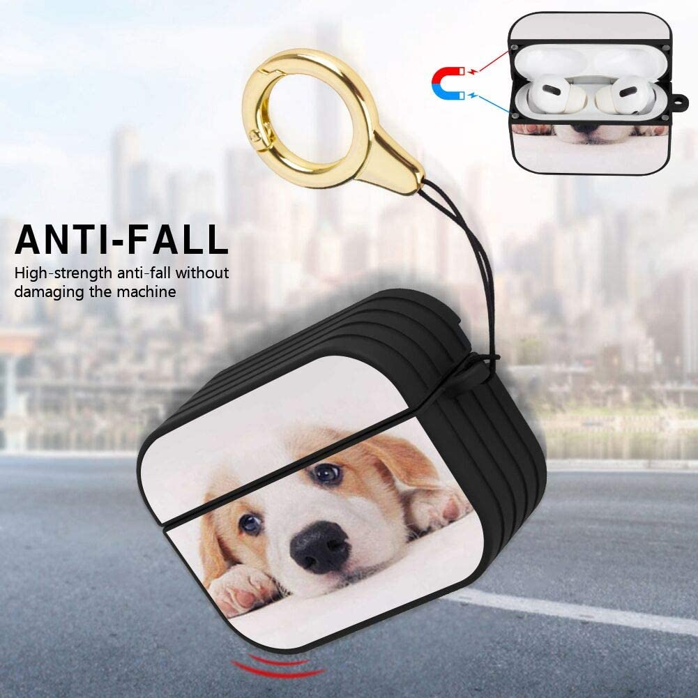 Compatible with AirPods Pro African Drum Striated Airpods Pro Case Shock-Resistant and Waterproof Cover with Magnet Lock and Ring Black