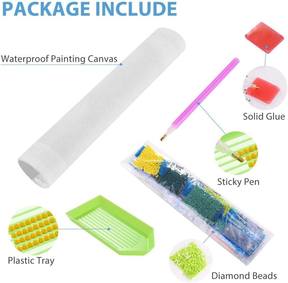 DIY 5D Kit de pintura de diamante por n/úmeros,Diamond painting bordado de punto de cruz,para manualidades,decoraci/ón de la pared del hogar,Joaqu/ín Sorolla-Dama de pie junto al mar