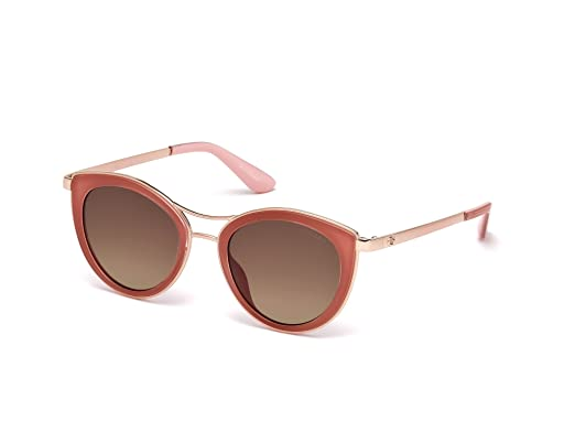Guess Unisex-Erwachsene Sonnenbrille GF029757X56, Beige, 56