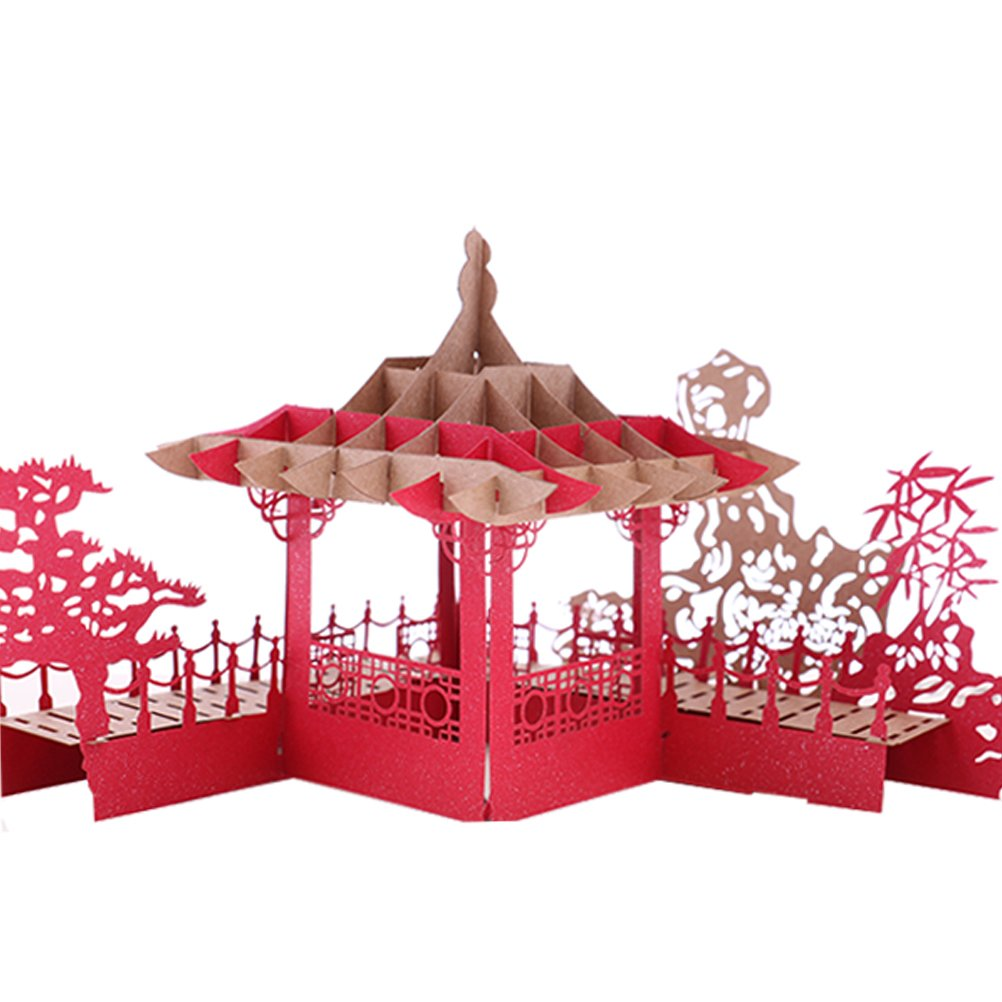 Bloomeet Handmade 3D Pop Up Greeting Cards Garden Architecture Thank ...