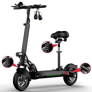 LHLCG Scooter eléctrico Plegable de 10 Pulgadas E-Scooter ...