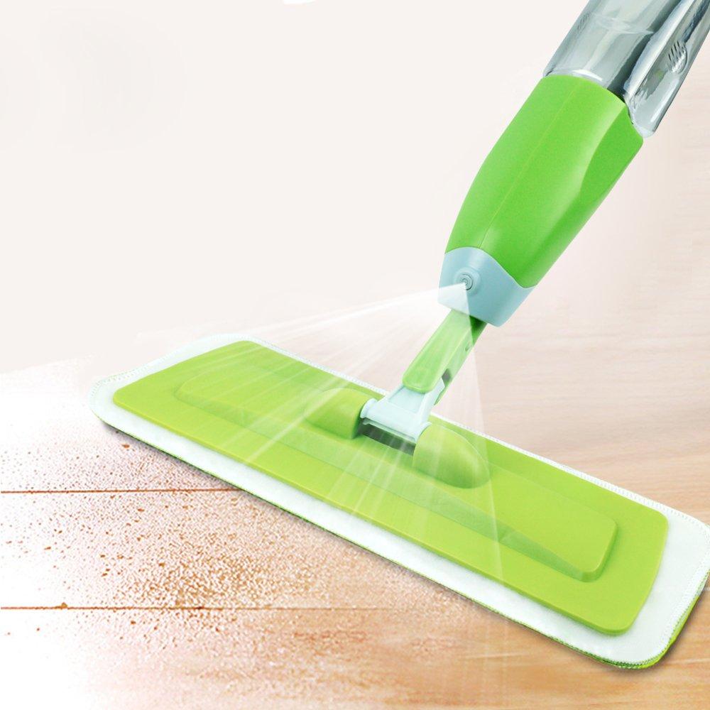 Delidge Floor Spray Mop, Microfiber Floor Mop, Professional 360 Degree Microfiber Spray Mop, Handle Mop Home Kitchen Hardwood, Laminate, Wood, Ceramic Tiles Cleaning
