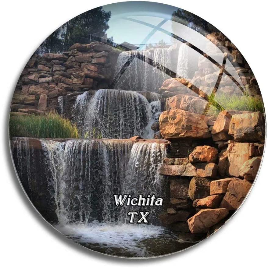 Fridge Magnet Wichita Falls Texas USA America Glass Magnets for Refrigerator Souvenirs Cute Crystal Magnet Decor for Whiteboard Office Home Gift
