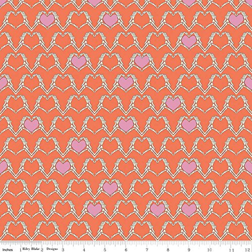 Hearts Cotton Quilt Fabric - 8