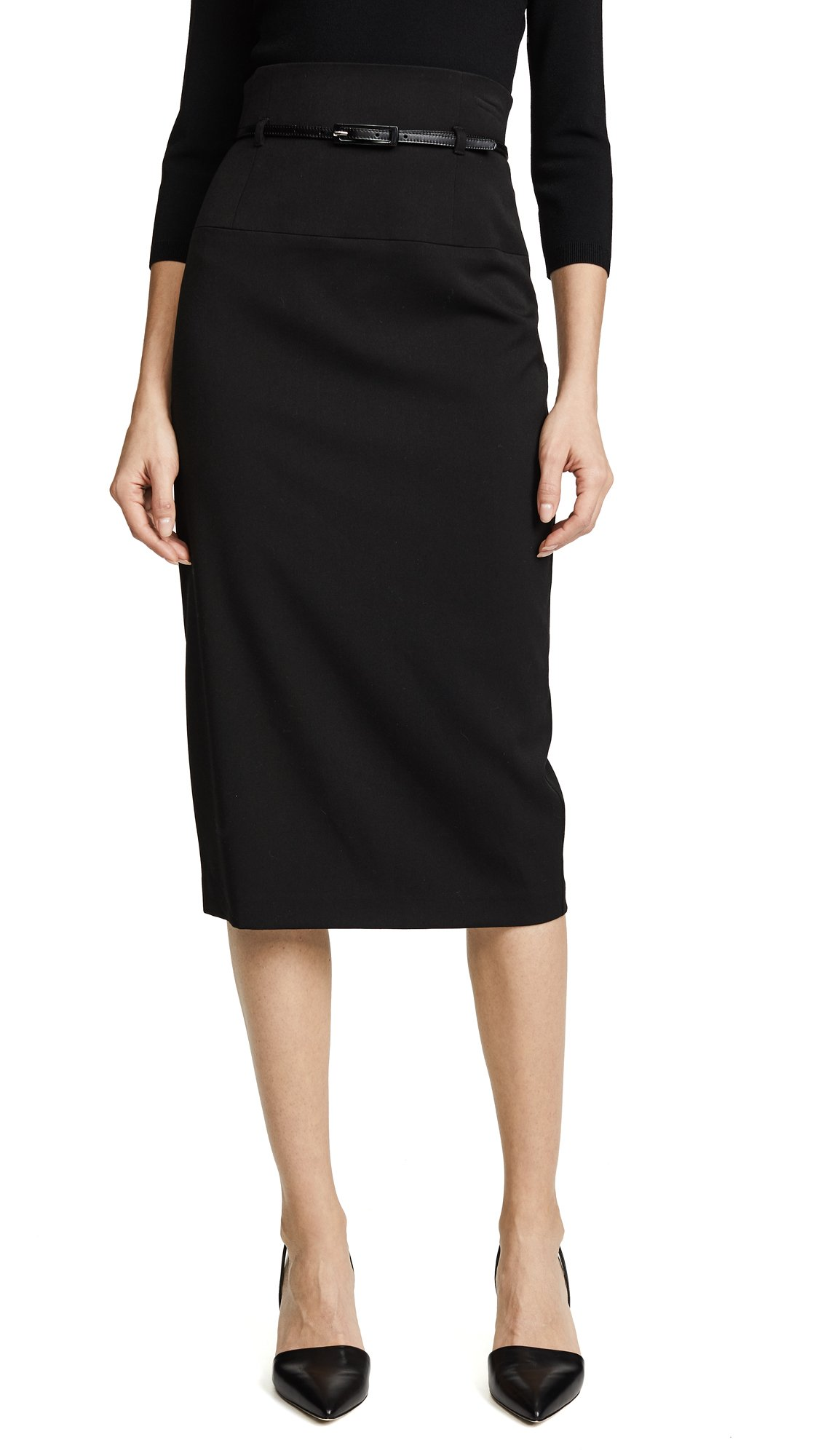 Black Halo Women's High Waisted Pencil Skirt, Black, 10 by Black Halo (Image #1)