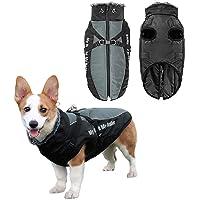 Vehomy - Abrigo de invierno para perro, impermeable, resistente al viento, con arnés y collar peludo, ropa cálida para…