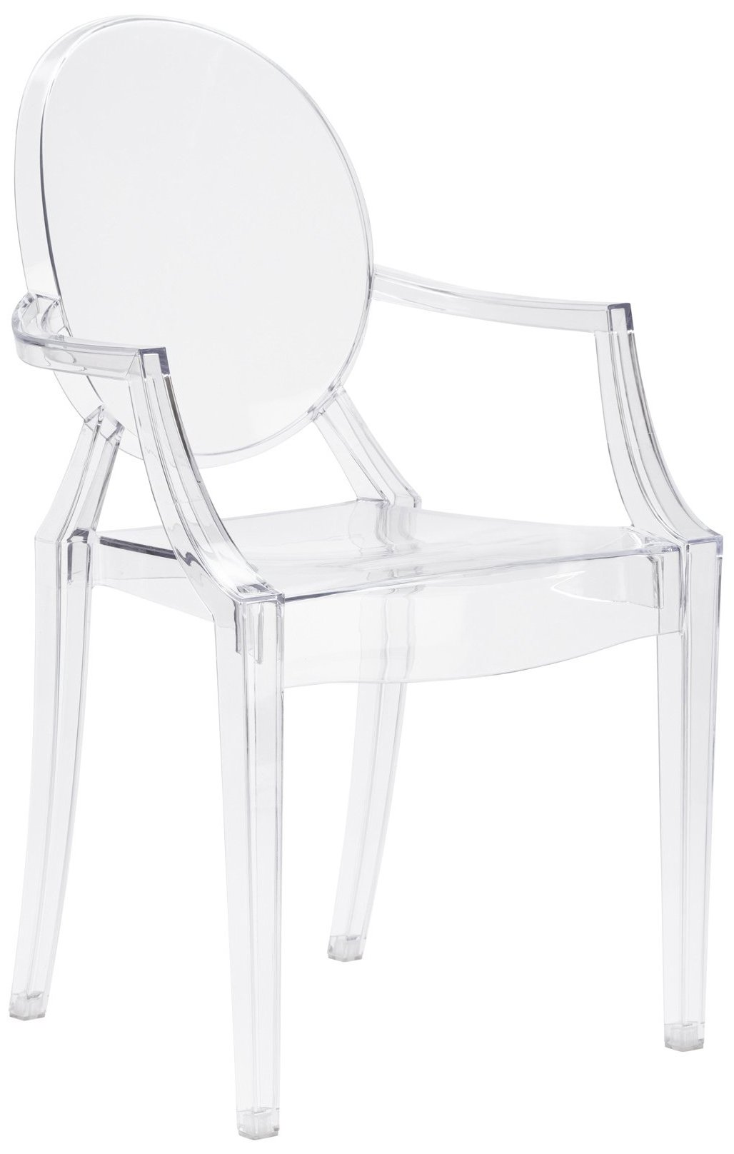 Poly and Bark Burton Arm Chair in Clear (Set of 4) by POLY & BARK (Image #1)