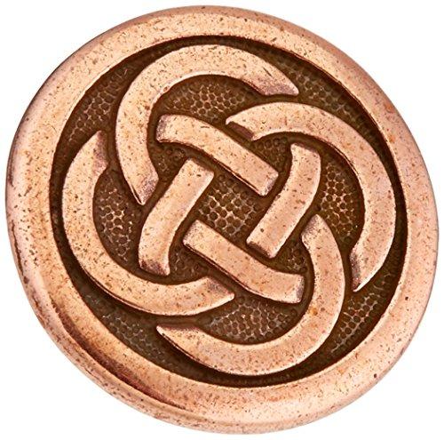 TierraCast Button Celtic Knot, 16mm, Antique Copper