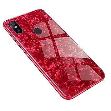 Funda Xiaomi Redmi S2, LAGUI Carcasa Muy chulo de Ultrafino, Panel trasero de vidrio y combinación de marco de TPU suave, Anti-Arañazos Anti-huella ...
