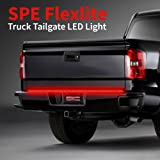 "60"" Truck LED Tailgate Light Bar Strip - [Brake, Turn Signal, Reverse Backup] - Weatherproof Dura-Flexible No-Drill Install - Full Featured Reverse Running Brake Turn Signal - 1yr Warranty [60-Inch]"