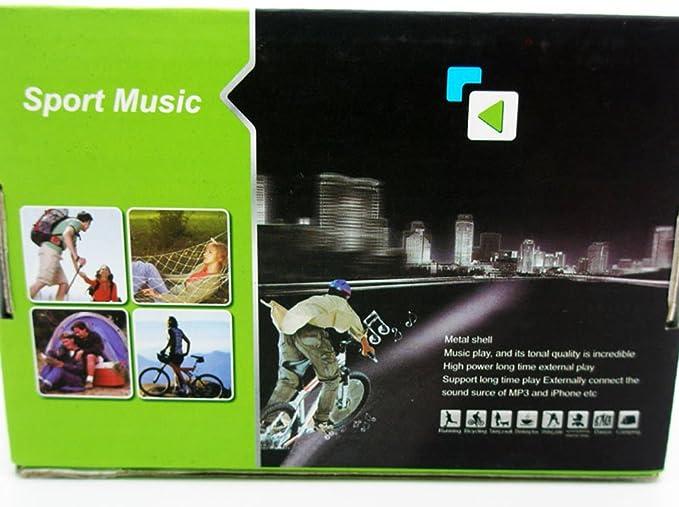 Lector Reproductor Altavoz MP3 MP4 TF SD Radio FM para Manillar ...