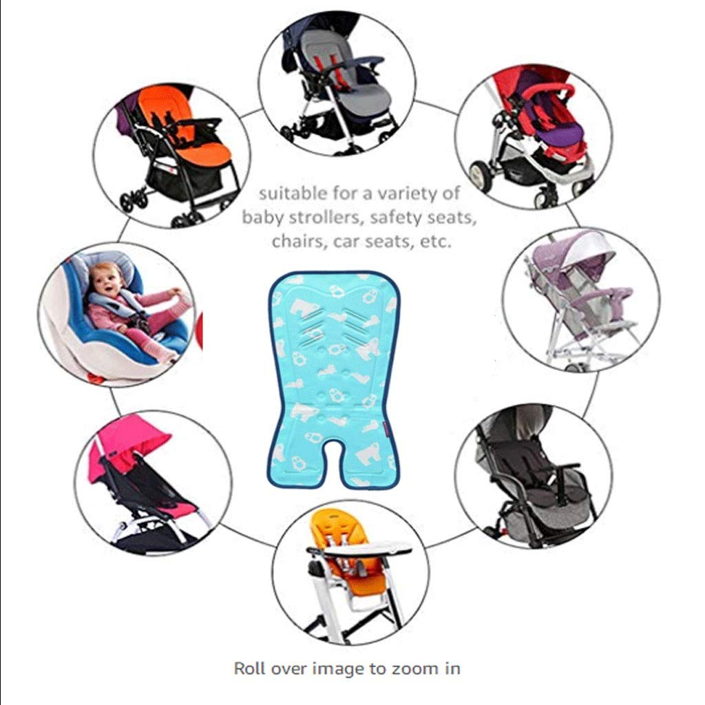 YJDTUJ Stroller Mat Gel Seat Cushion Physical Cooling Cool Pad Seat Cushion Safe and Healthy Cold Without Ice Suitable for All Strollers (Color : Blue) by YJDTUJ (Image #5)