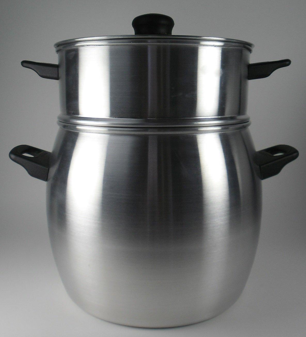 BCSA 236513 Couscous-Topf, Aluminium, 26 x 32 x 32 cm