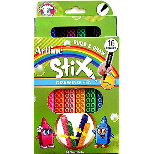 Artline ETX Stix Connecting Drawing Pens - Pack 16 for cheap