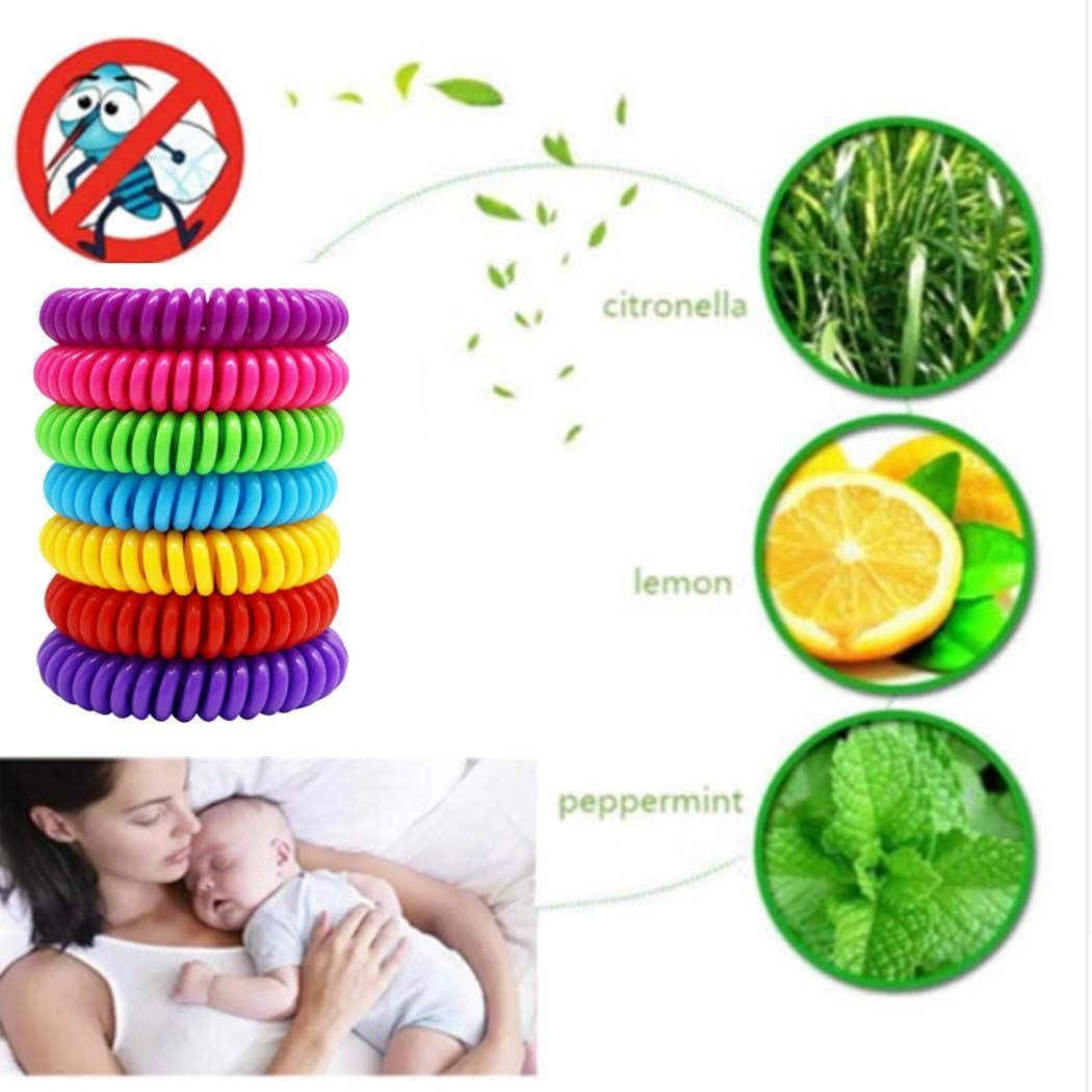 MYEDO Mosquito Repellent Bracelet 7 PCS for Outdoor Adult Child Protection, No Deet and Waterproof