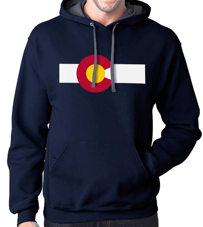 Annata Colorado State Cappuccio Zip Delle Donne Bandiera Cuore PUueKROAIl