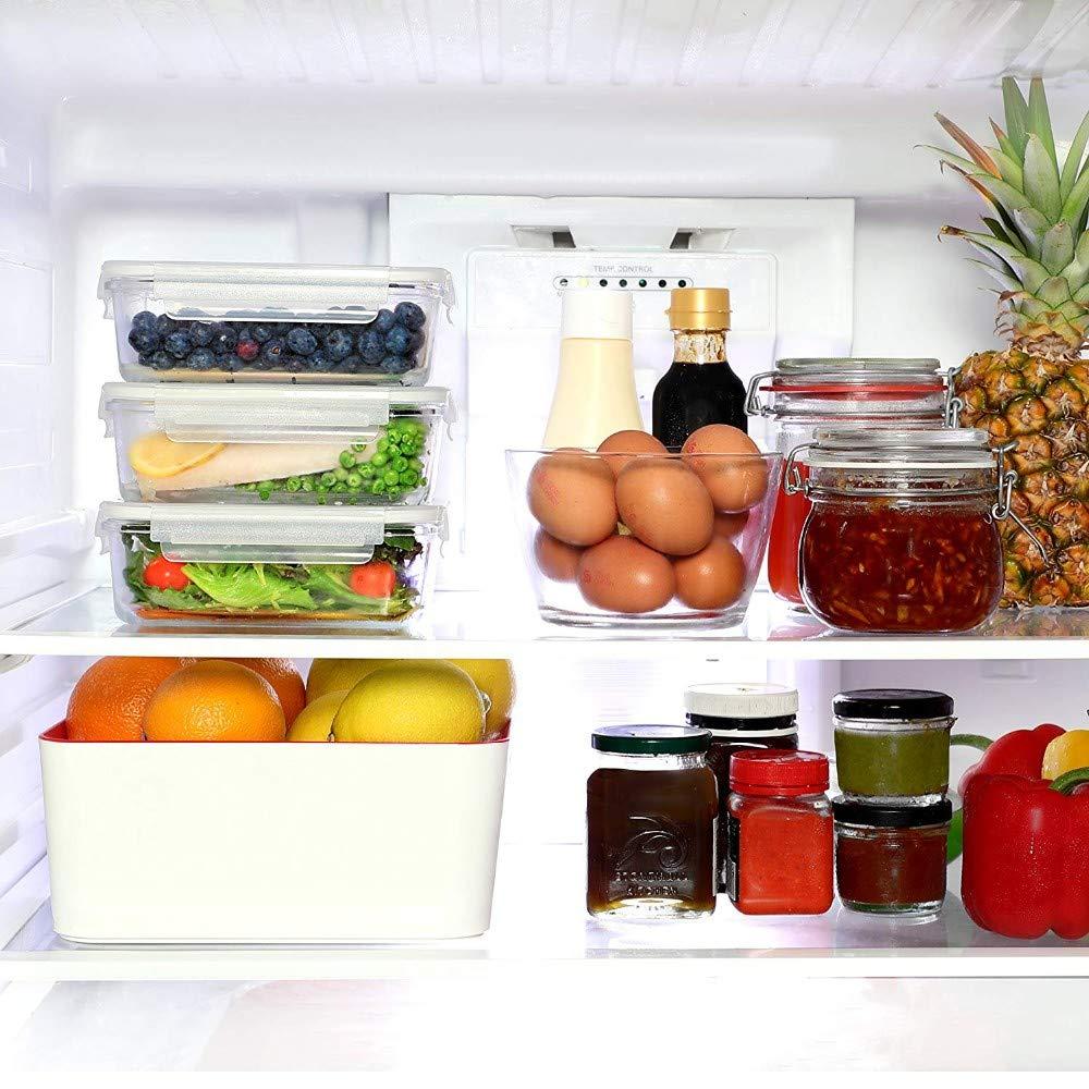 INTIGNIS/® cucina contenitore per alimenti in vetro eco friendly barattoli con coperchio Airtigh lunch box pasto Prep insalate pasta in vetro borosilicato senza BPA baby food